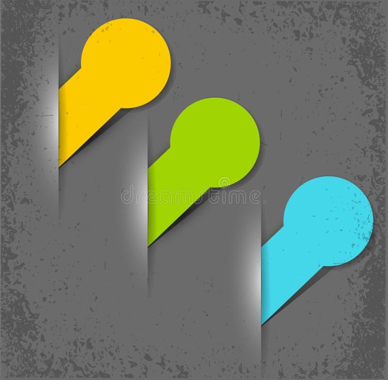 Download Vektorelemente Für Web-Auslegung Vektor Abbildung - Illustration von bekanntmachen, karte: 26363439