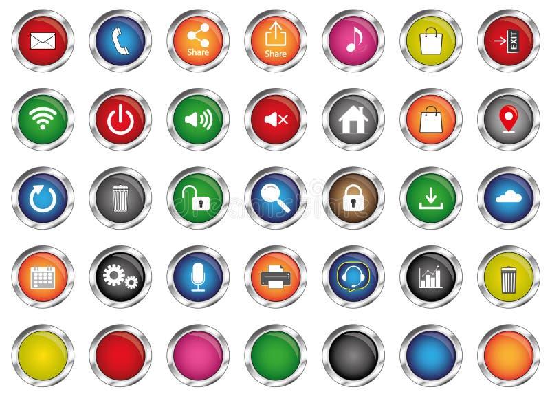 Vektoren für Computer und Smartphone, Internet und Anwendungsikonen, stock abbildung