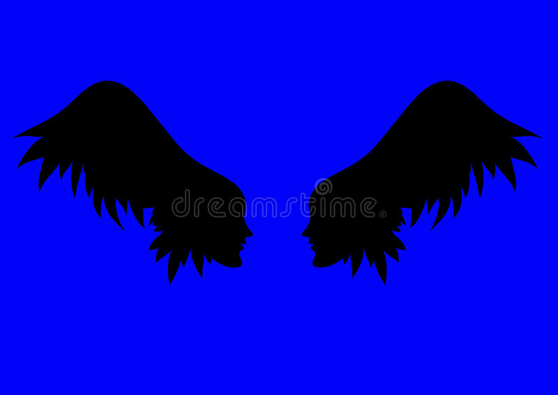 Vektorengelsflügel stock abbildung