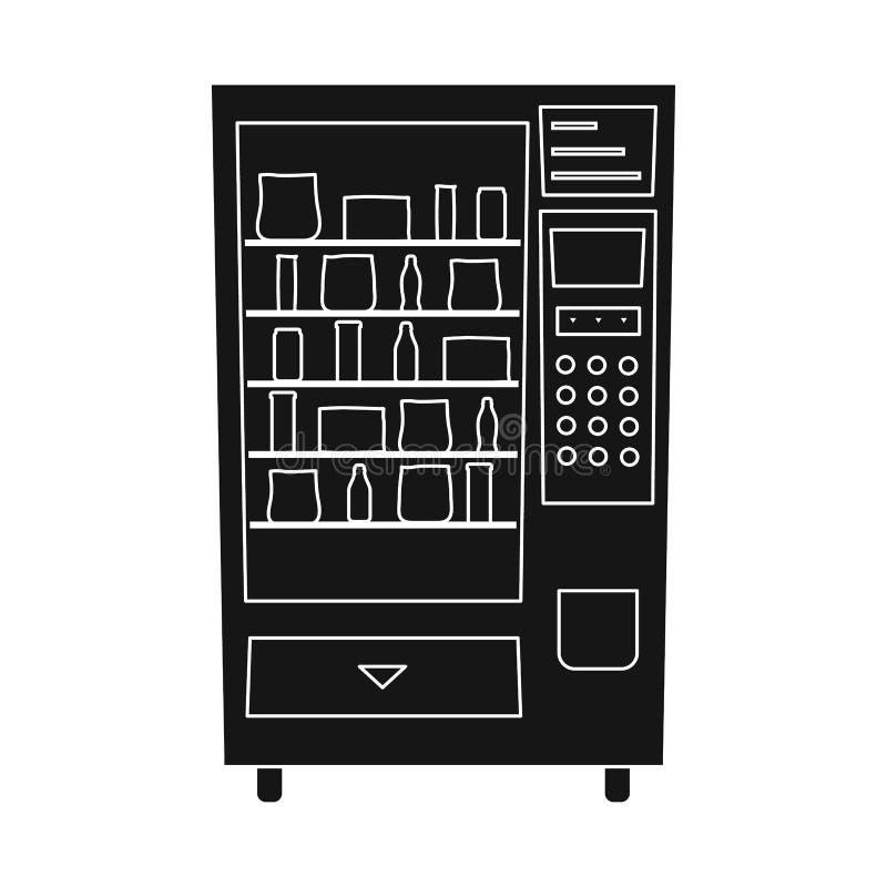 Vektorentwurf der Automat- und Maschinenikone Stellen Sie von der Automat- und Knopfvorratvektorillustration ein lizenzfreie abbildung