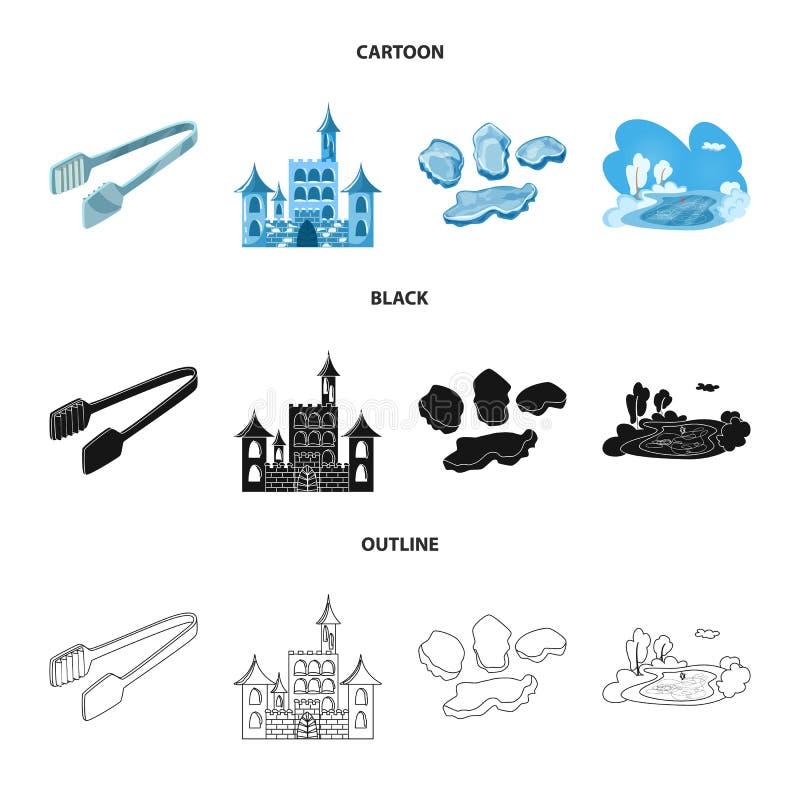 Vektorentwurf der Beschaffenheit und des gefrorenen Logos Stellen Sie von der Beschaffenheit und von der transparenten Vektorillu lizenzfreie abbildung
