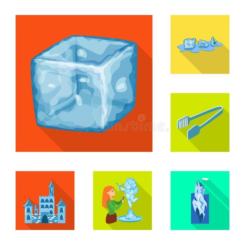 Vektorentwurf der Beschaffenheit und des gefrorenen Symbols Stellen Sie von der Beschaffenheit und von der transparenten Vektorik lizenzfreie abbildung