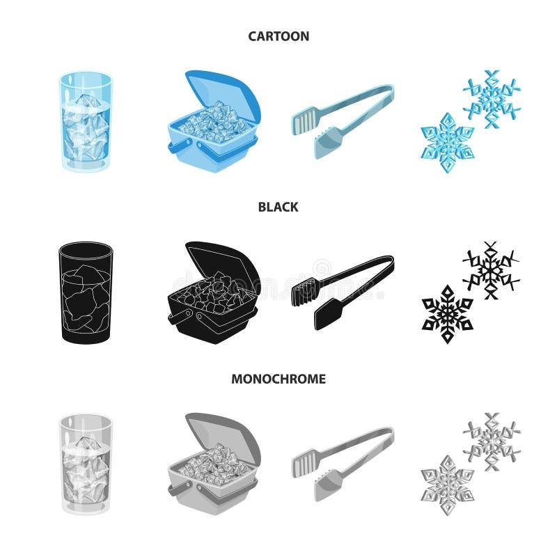 Vektorentwurf der Beschaffenheit und des gefrorenen Symbols Stellen Sie von der Beschaffenheit und von der transparenten Vektoril stock abbildung