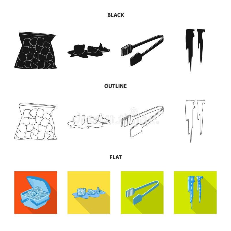 Vektorentwurf der Beschaffenheit und des gefrorenen Zeichens Sammlung der Beschaffenheit und der transparenten Vektorillustration vektor abbildung