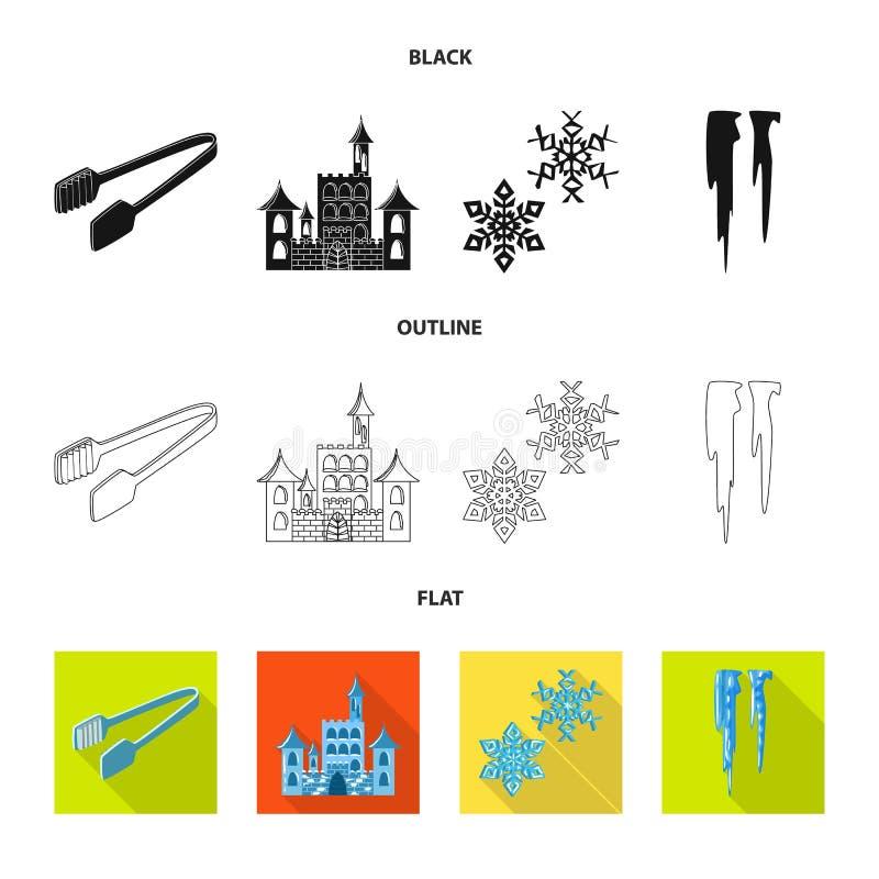 Vektorentwurf der Beschaffenheit und der gefrorenen Ikone Stellen Sie von der Beschaffenheit und von der transparenten Vektorikon vektor abbildung