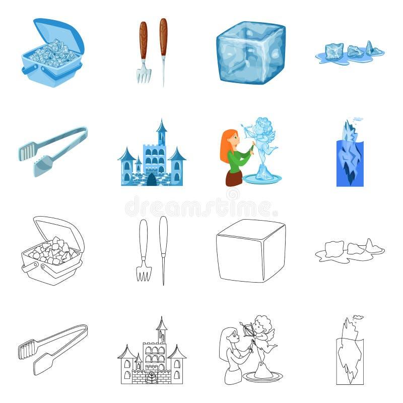 Vektorentwurf der Beschaffenheit und der gefrorenen Ikone Stellen Sie von der Beschaffenheit und vom transparenten Aktiensymbol f stock abbildung