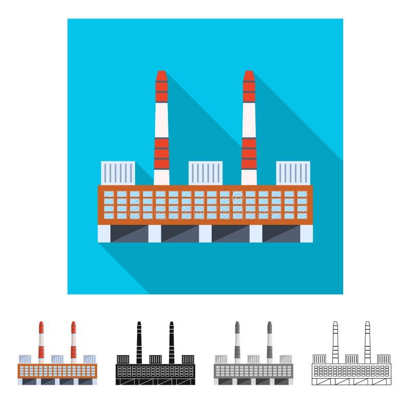 Vektorentwurf der Manufaktur und des Firmenzeichens Sammlung der Manufaktur- und Kaminvektorikone f?r Vorrat lizenzfreie abbildung