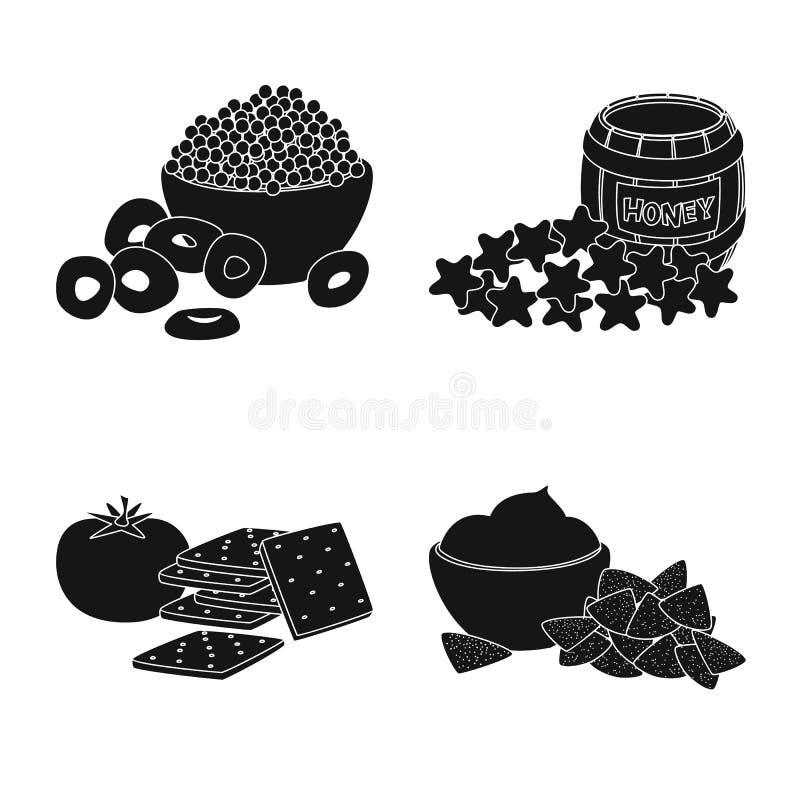 Vektorentwurf des Bestandteiles und des organischen Logos Sammlung der Bestandteil- und Produktvorratvektorillustration stock abbildung