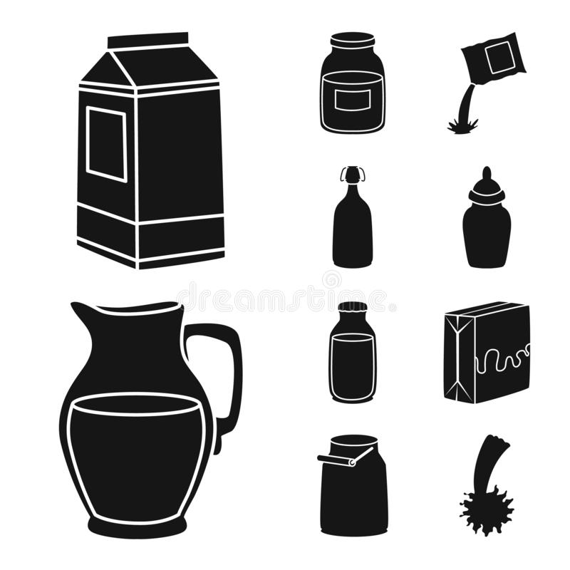 Vektorentwurf des Bestandteiles und des organischen Zeichens Stellen Sie von der Bestandteil- und Molkereivorratvektorillustratio lizenzfreie abbildung