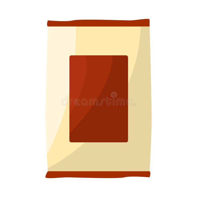 Vektorentwurf des Paket- und Nahrungsmittelzeichens Sammlung des Paket- und Produktaktiensymbols für Netz vektor abbildung