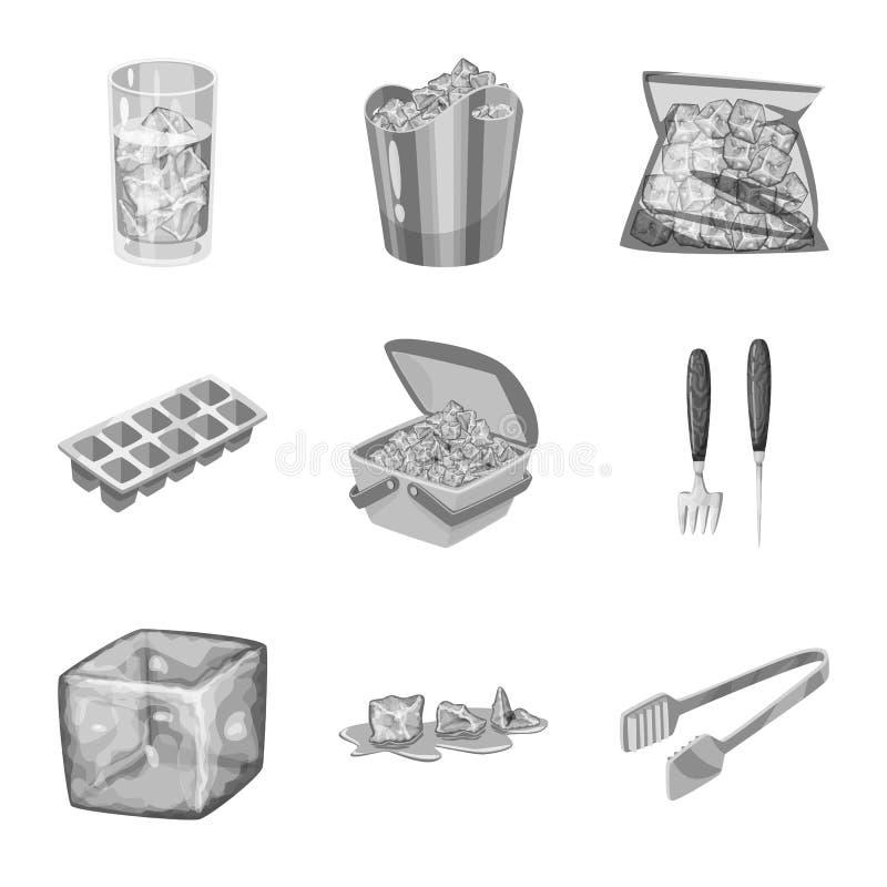 Vektorentwurf des Quadrat- und Reinheitslogos Sammlung des quadratischen und gefrorenen Aktiensymbols f?r Netz stock abbildung