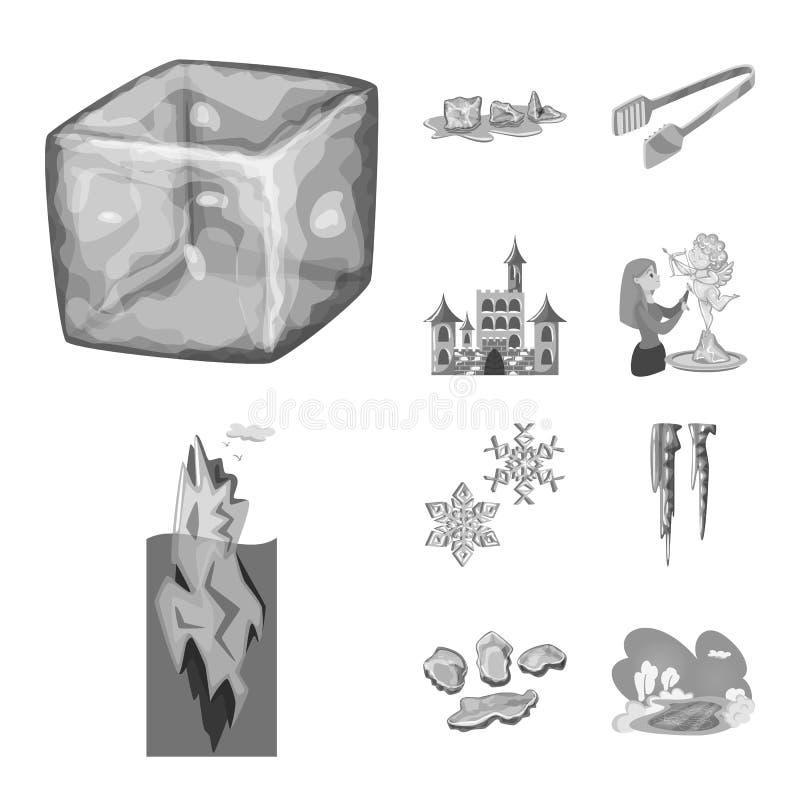 Vektorentwurf des Quadrat- und Reinheitssymbols Stellen Sie vom Quadrat und von gefrorener Vektorikone f?r Vorrat ein lizenzfreie abbildung