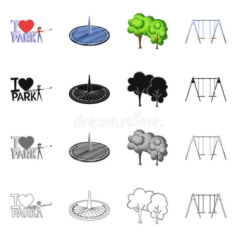 Vektorentwurf von st?dtischem und von Stra?enschild Sammlung des st?dtischem und Entspannungsaktiensymbols f?r Netz stock abbildung