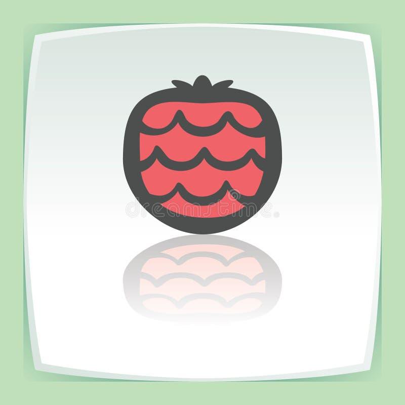 Vektorentwurfserdbeerfruchtikone Modernes infographic Logo und Piktogramm lizenzfreie abbildung