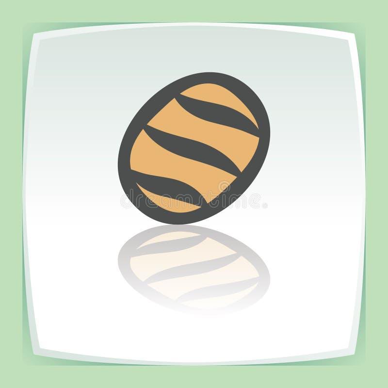 Vektorentwurfsweißbrot-Laibikone Modernes infographic Logo und Piktogramm stock abbildung