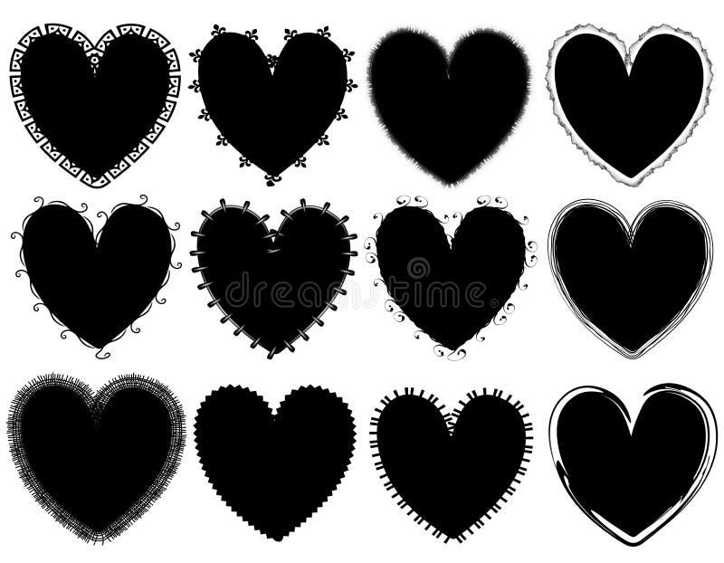 vektorer för valentin för daghjärta s stock illustrationer