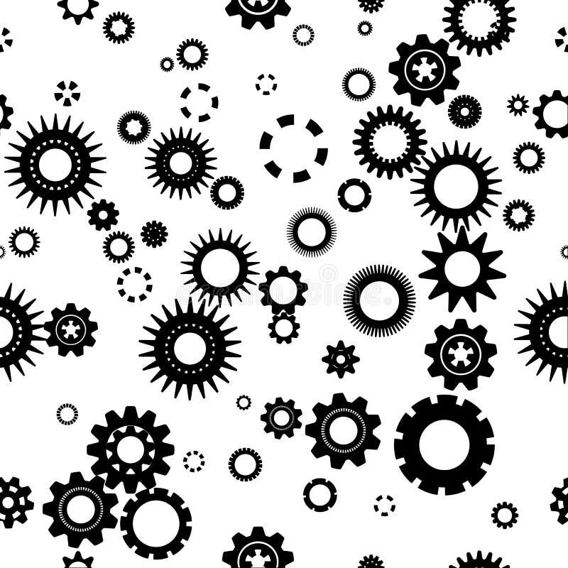 Vektorer gör sammandrag bakgrundskugghjulmodellen royaltyfri illustrationer