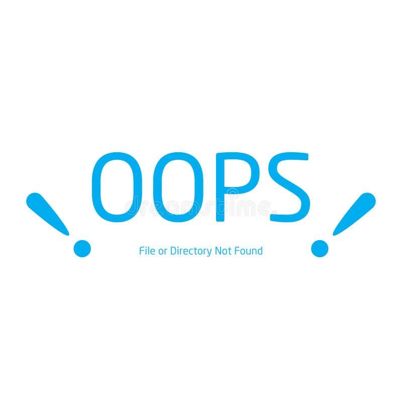 Vektorer gör sammandrag websiten för tillträde för bakgrundsanslutningsfelet stock illustrationer