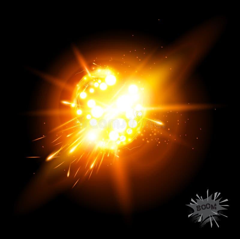 Vektorexplosion! stock illustrationer