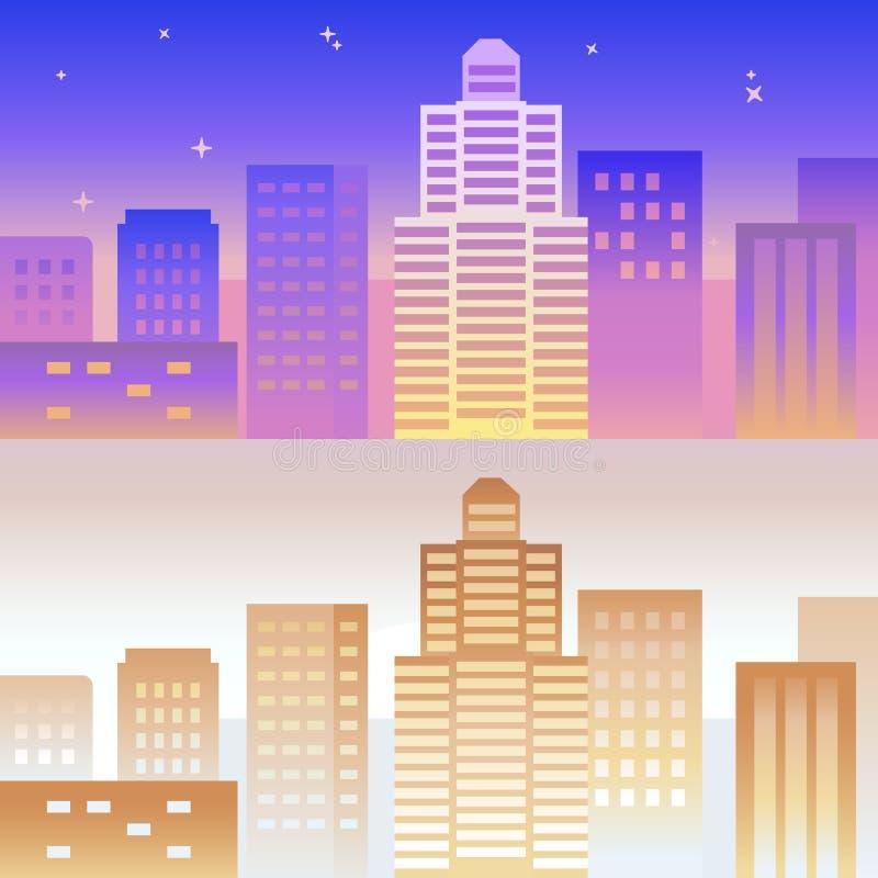 Vektorfärgar horisontalbanret och bakgrund i ljus lutning stock illustrationer