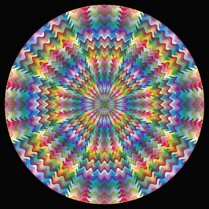Vektorfärgcirkel vektor illustrationer