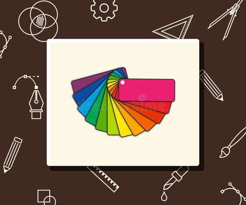 Vektorfärghandbok, affärsidé royaltyfri illustrationer