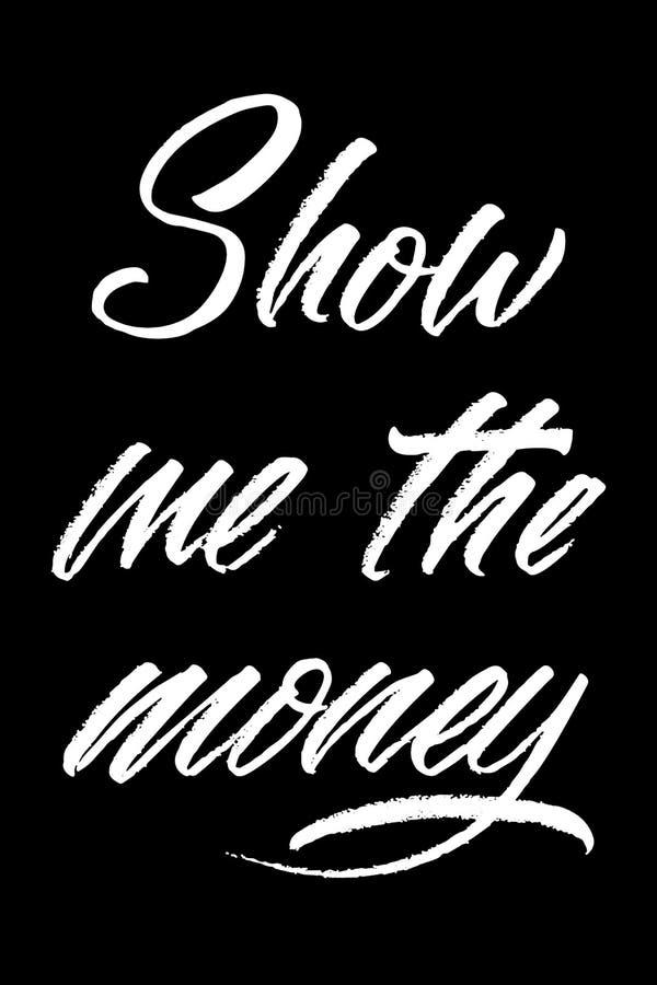 Vektorfärgpulverillustration Typografiaffisch på svart bakgrund  royaltyfri illustrationer