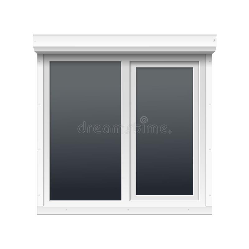Vektorfönster med rullande slutare vektor illustrationer