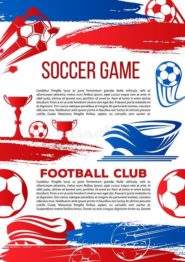 Vektorfahne für Fußballcollegepunktspiel lizenzfreie abbildung