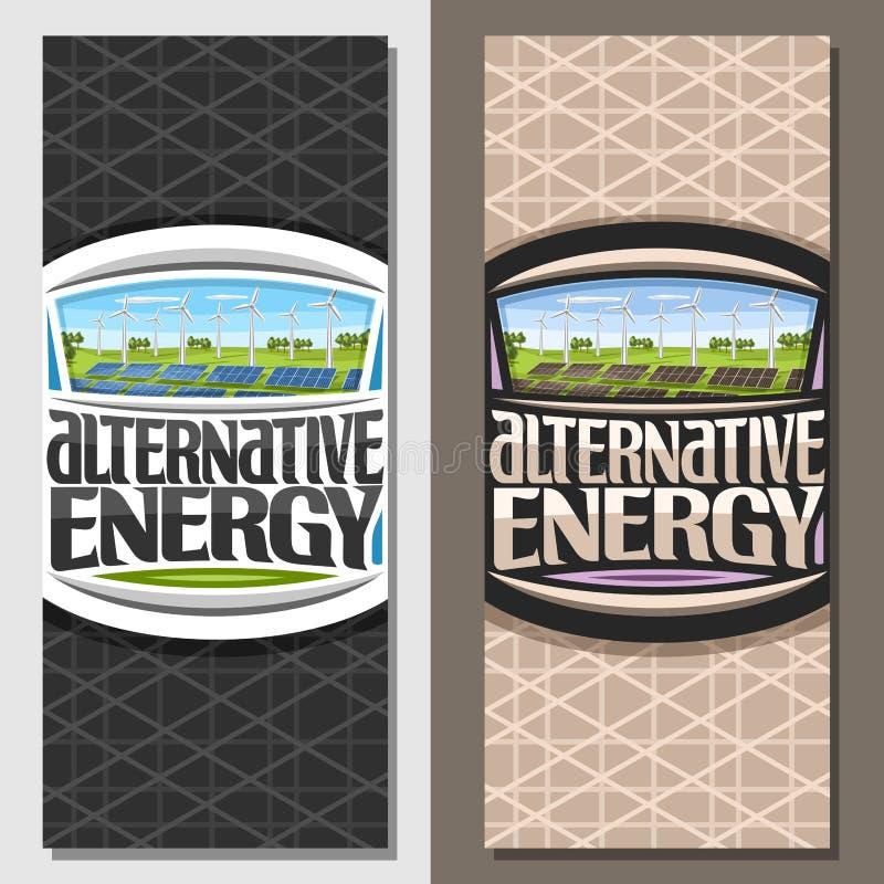 Vektorfahnen für alternative Energie vektor abbildung