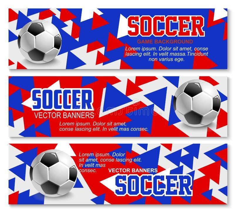 Vektorfahnen für Fußballfußballmeisterschaft vektor abbildung