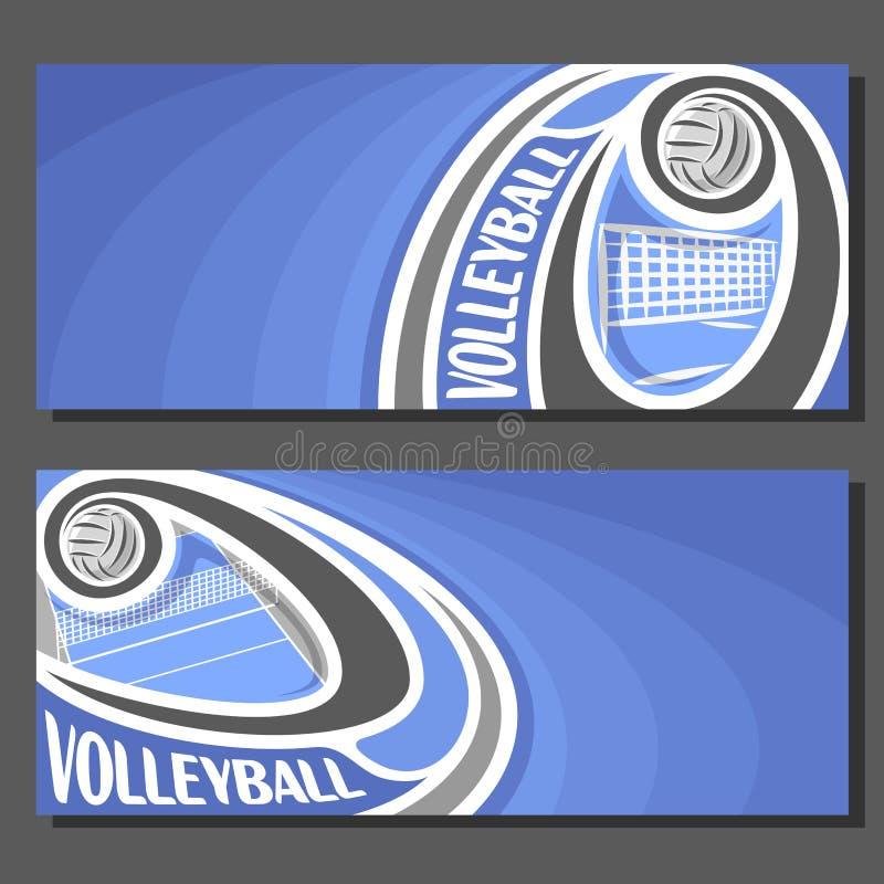 Vektorfahnen für Volleyball vektor abbildung