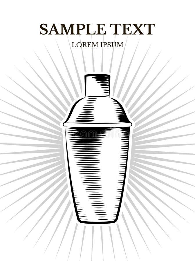 Vektorfahnendesign des Schüttels-Apparat stockbilder