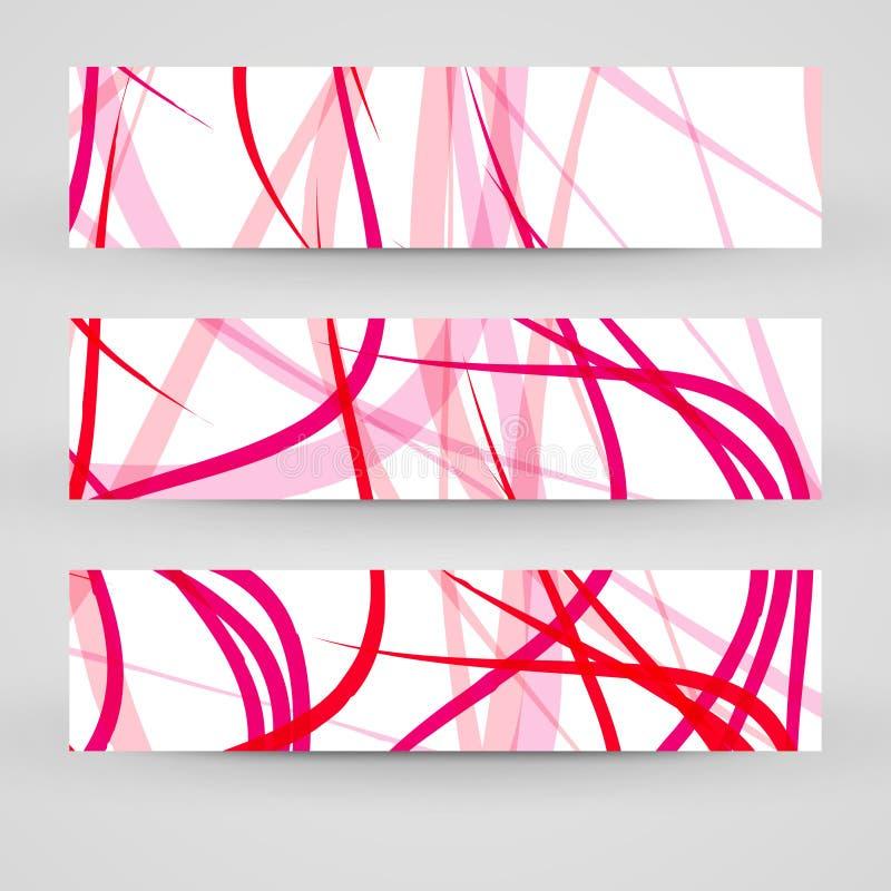 Vektorfahnensatz für Ihr Design stockfoto