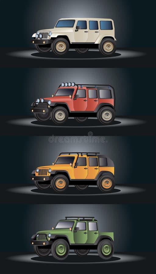 Vektorfahrzeugbild-Designsatz stockfotos