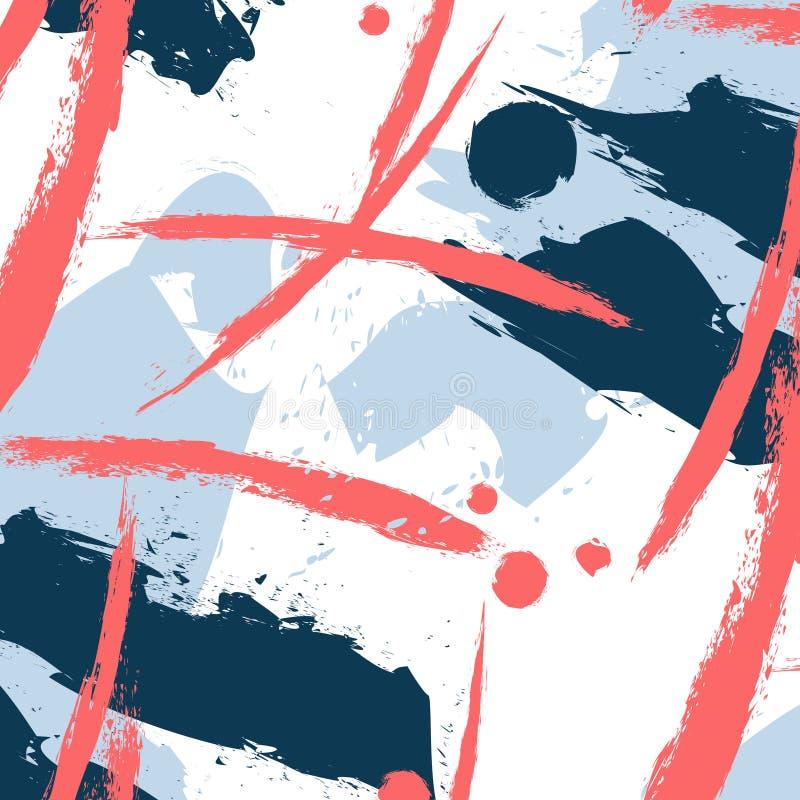 Vektorfantasimodell med penseldragbeståndsdelar Beställnings- printing för tyg Grafisk tapet för konstnärtextil för att bekläda stock illustrationer