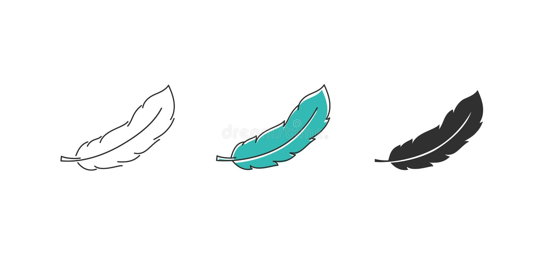 Vektorfederikone stock abbildung