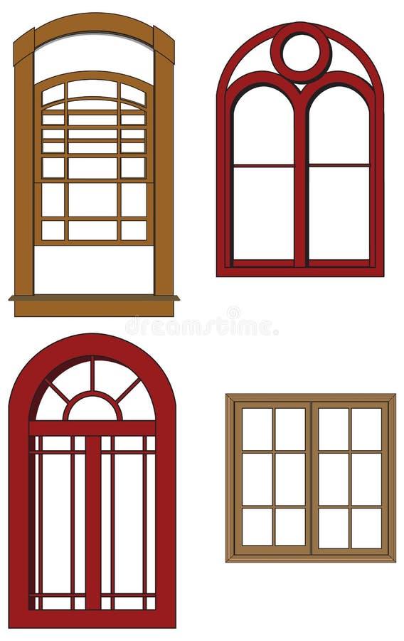 Vektorfenster lizenzfreie abbildung