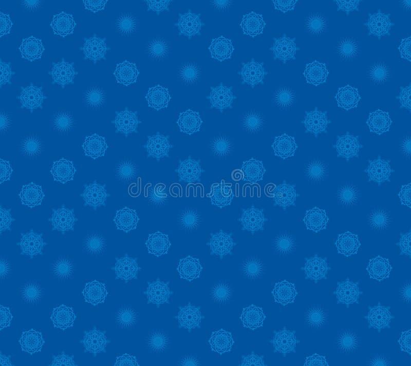 Vektorferiesnöflingor på blå bakgrund vektor illustrationer