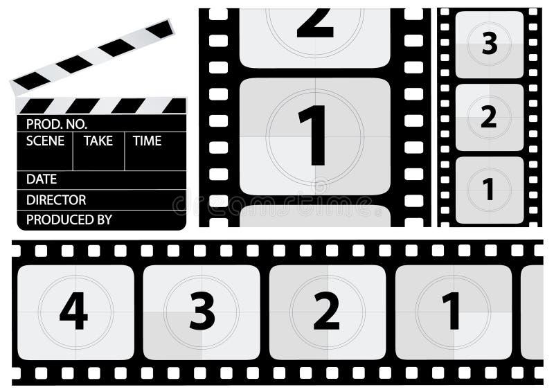 Vektorfilm-Count-down lizenzfreie abbildung