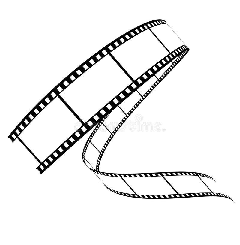 Vektorfilm rollte unten lizenzfreie abbildung