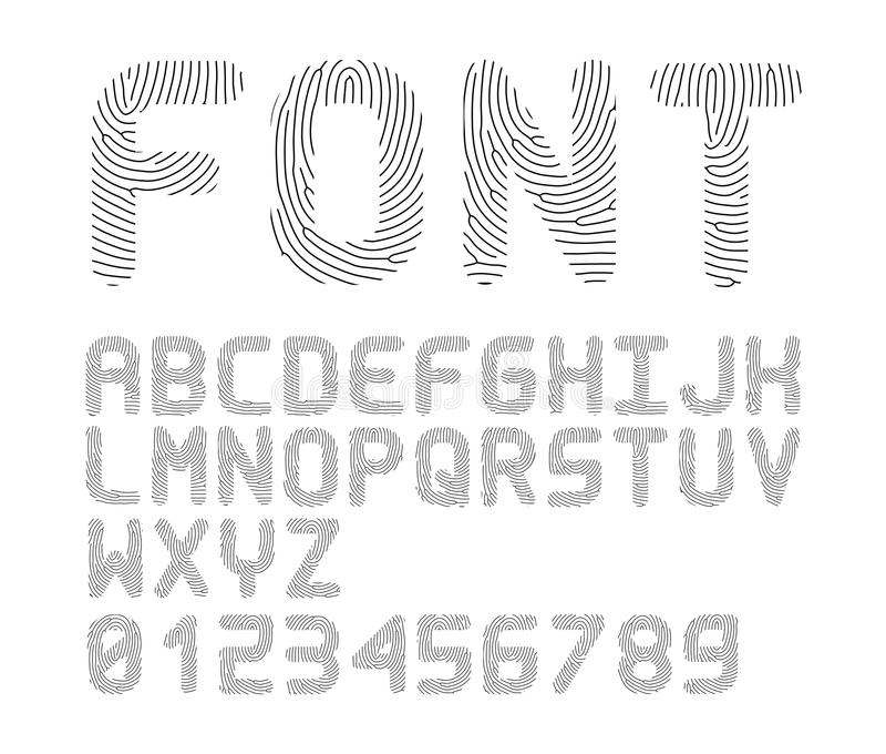 Vektorfingerabdruckguß stock abbildung