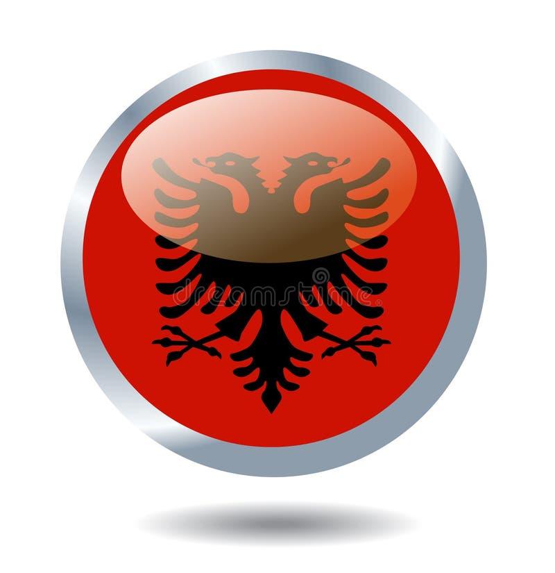 Vektorflagga av Albanien stock illustrationer