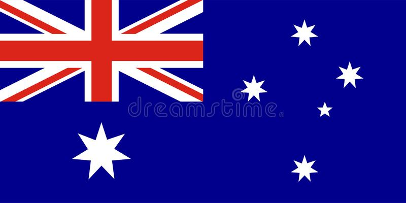 Vektorflagga av Australien stock illustrationer