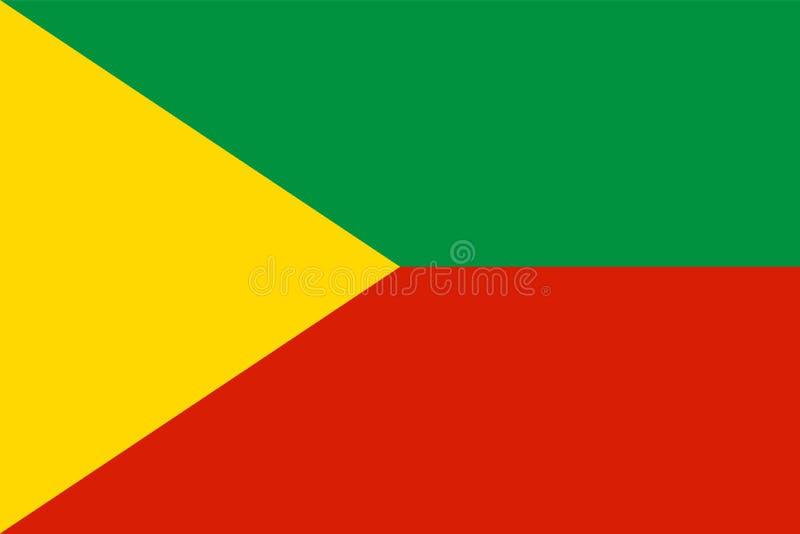 Vektorflagga av Baikal, rysk federation - Chita Region, Siberian federalt område royaltyfri illustrationer
