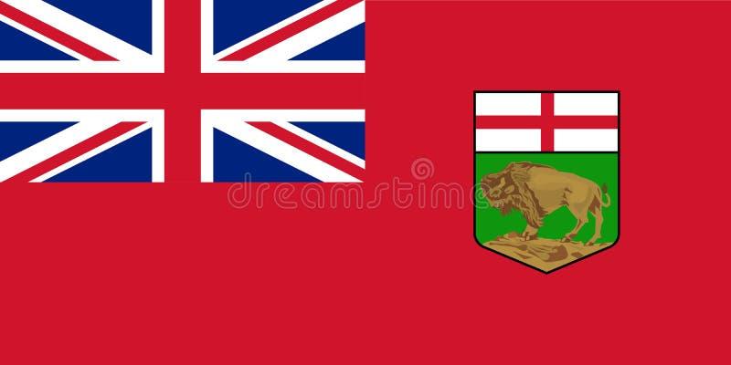 Vektorflagga av det Manitoba landskapet Kanada winnipeg royaltyfri illustrationer