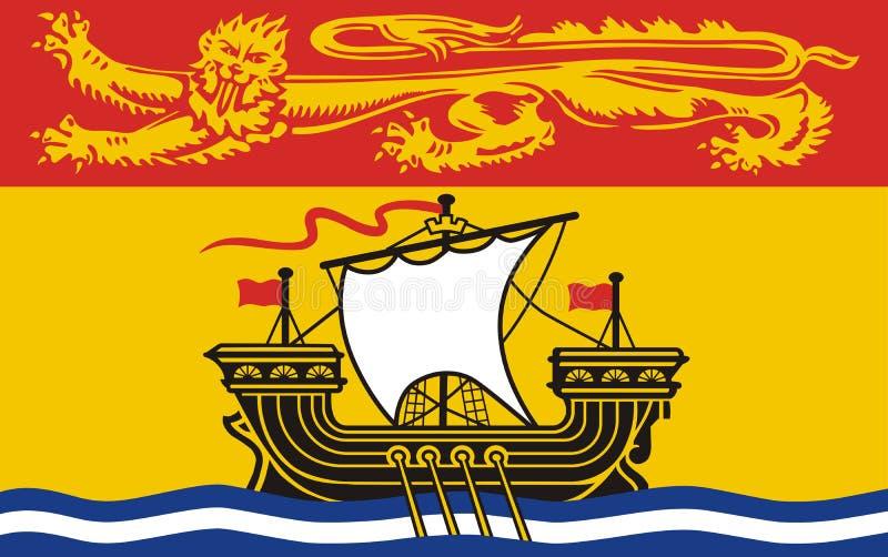 Vektorflagga av det New Brunswick landskapet, Kanada royaltyfri illustrationer
