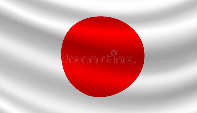 Vektorflagga av Japan Japanskt nationellt symbol vektor illustrationer