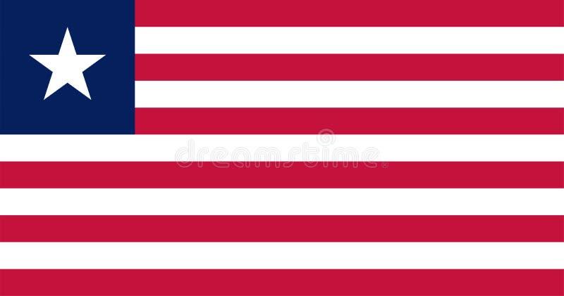 Vektorflagga av Liberia Proportions10:19 Liberiansk nationsflagga Republiken Liberia royaltyfri illustrationer
