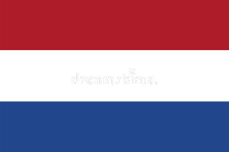 Vektorflagga av Nederländerna flagga holland stock illustrationer